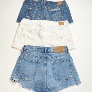 American Eagle & Divided Denim shorts LOT Size 4